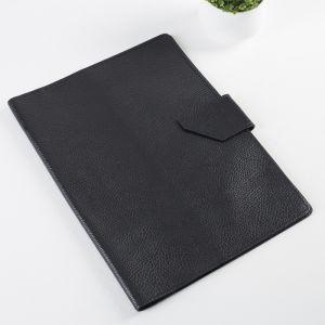 Папка для документов на кнопке, 3 комплекта, цвет чёрный