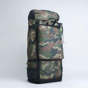 Рюкзак туристический, 60 л, отдел на шнурке, 3 наружных кармана, цвет хаки