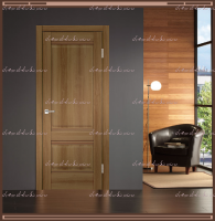 Межкомнатная дверь  ALTO 2P Глухое Орех Золотой :
