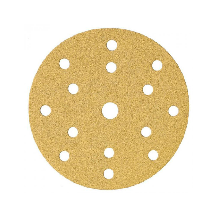 Schtaer Абразивные круги на липучке диаметр 150 мм., 15 отверстий, упаковка 10 шт., градация зерна P100