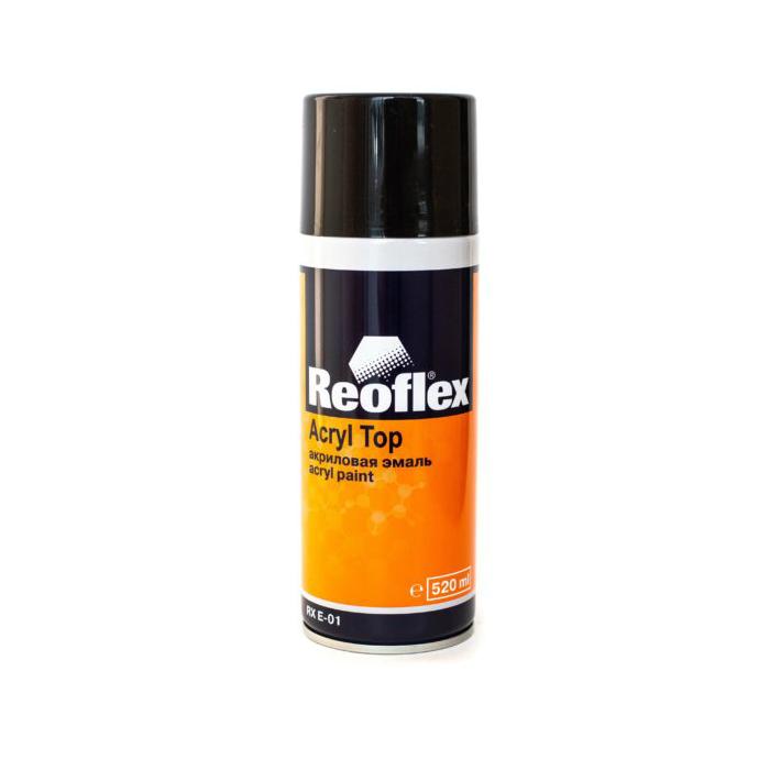 REOFLEX Эмаль черная матовая 1K аэрозоль, 520мл.