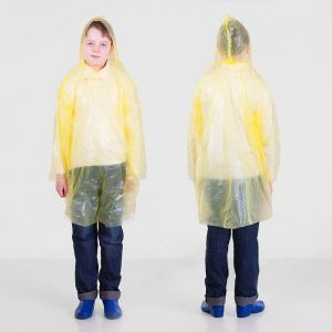 Дождевик детский унисекс «Непромокайка», универсальный размер, цвет жёлтый