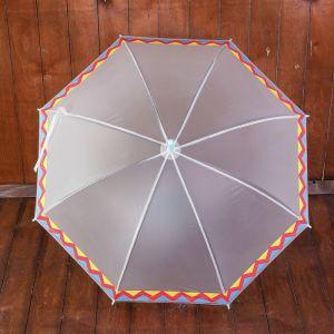 Зонт детский полуавтоматический «Ацтекские рисунки», r=45см, цвет прозрачный