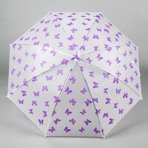 Зонт детский «Бабочки», фиолетовый