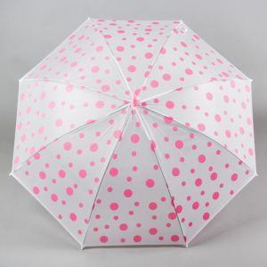 Зонт детский «Горошек», розовый