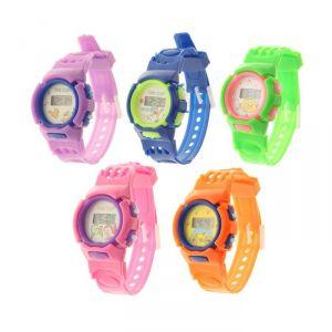"""Часы наручные детские """"Джуниор"""", электронные, с силиконовым ремешком, микс, l=22 см 1197093"""