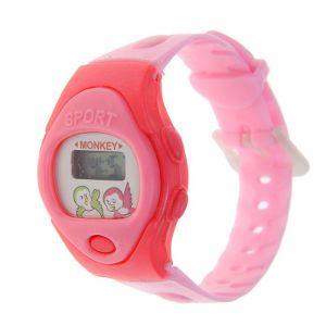 Часы наручные детские, электронные, ремешок силикон, овальный циферблат, микс 839197
