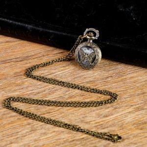 """Часы карманные """"Бабочка"""", кварцевые, на цепочке, 3.5х2.6 см 2715458"""