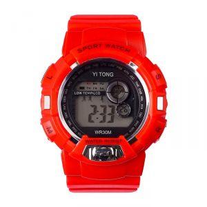 """Часы наручные """"Кретчер"""", электронные, с силиконовым ремешком, l=23 см, красные   4447478"""