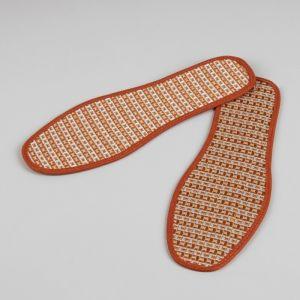 Стельки для обуви, окантовка, 41 р-р, пара, цвет коричневый