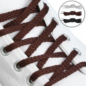 Набор шнурков для обуви, 3 пары, плоские, 5 мм, 110 см, цвет МИКС