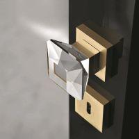 Комплект кноб Glass Design Diamond Q. латунь полированная/прозрачный кристалл
