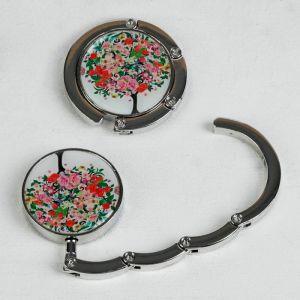 Крючок для сумки и зонта «Дерево цветочное», d = 4,5 см