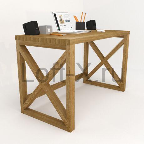 """Деревянный стол в стиле Лофт - """"XO"""""""