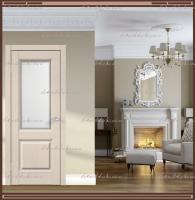 Межкомнатная дверь ALTO 6 Остекленное SoftTouch структурный Ясень капучино, стекло - МАТЕЛЮКС Контур1 :