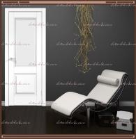 Межкомнатная дверь ALTO 6 Остекленное SoftTouch структурный Ясень белый, стекло - МАТЕЛЮКС Контур1 :