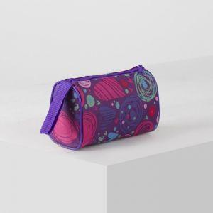Косметичка , отдел на молнии, цвет фиолетовый