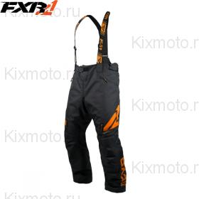 Полукомбинезон FXR Сlutch FX - Black/Orange мод. 2019