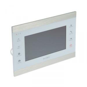 """Видеодомофон SLINEX SL-07IP, 7"""" цв. 16:9,800х480,Wi-Fi/Eth,microSD,детект движ,серебр-белый  4552633"""