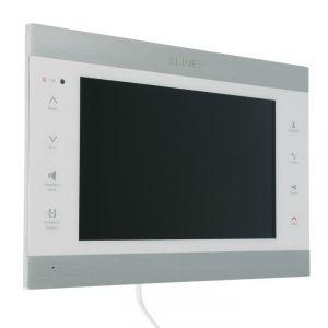 """Видеодомофон SLINEX SL-10IPT,10"""" цв 16:9,1024х600,Wi-Fi/Eth,microSD,детект движ,серебр-белый 4552637"""