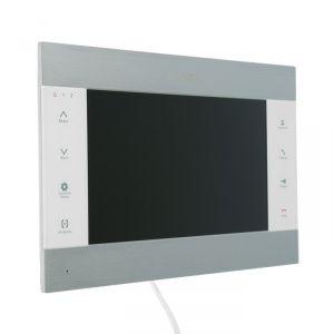 "Видеодомофон SLINEX SL-10M, 10"" цв. 16:9, 1024х600, часы, microSD, детект движ, серебр-белый 4552635"