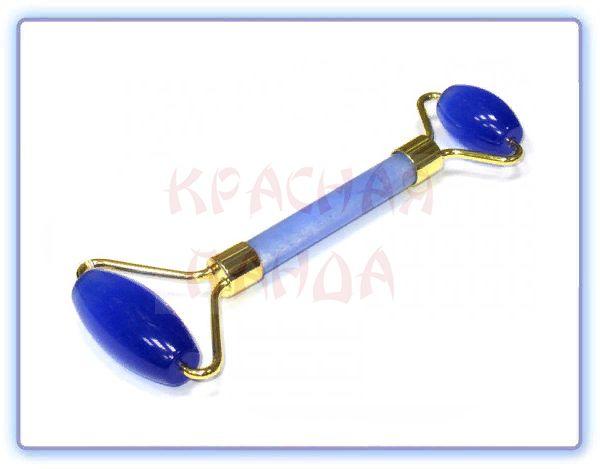 Роликовый массажер для лица Королевский синий