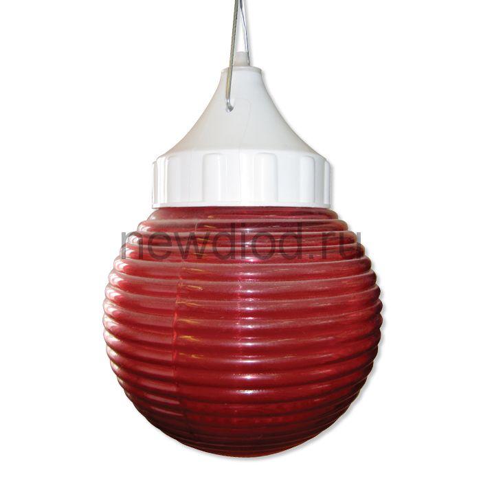 """Сигнальный специальный светильник """"Кольца"""" 150 НСП 03-60-001 IP53 красный /корпус пластик белый ГУ"""