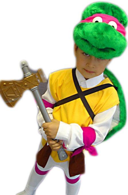 Детский костюм розово-желтой Черепашки Каратиста