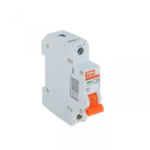 Выключатель автоматический TDM ВА47-29, 1п, 25 А, 4.5 кА 1416976