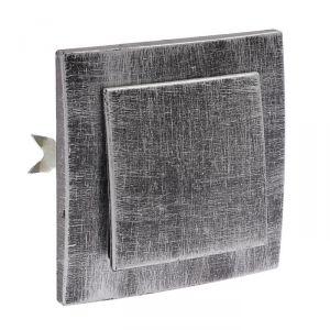 """Выключатель """"Элект"""" VS 16-131-ЧС, 6 А, 1 клавиша, скрытый, цвет черный под серебро 4364447"""