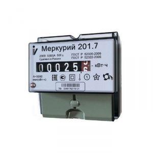 """Счетчик """"Меркурий"""" 201.7, 5-60 А, однофазный, однотарифный 2186900"""