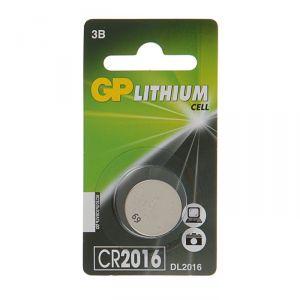 Батарейка литиевая GP, CR2016-1BL, 3В, блистер, 1 шт. 2392794