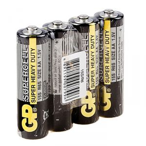 Батарейка солевая GP Supercell Super Heavy Duty, AA, R6-4S, 1.5В, спайка, 4 шт. 470412