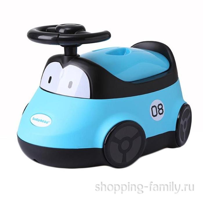 Детский горшок-машинка, голубой