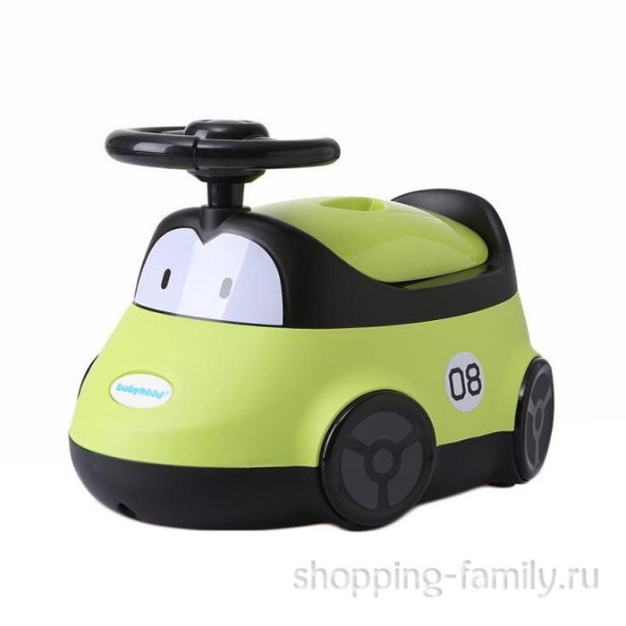 Детский горшок-машинка, зеленый
