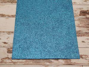"""`Фоамиран """"глиттерный"""" Китай, толщина 2 мм, размер 20x30 см, цвет синий"""