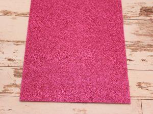 """`Фоамиран """"глиттерный"""" Китай, толщина 2 мм, размер 20x30 см, цвет ярко-розовый"""