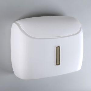 Диспенсер бумажных полотенец в листах, пластик белый   4442493