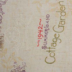 Штора портьерная «Этель» 135?260 см, Старинная открытка, полулён, 15% лён, 85% п/э