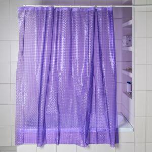 Штора для ванной 3D 180?180, EVA, цвет фиолетовый