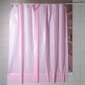 """Штора для ванной 180?180 см """"Розовый"""", полиэтилен"""