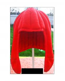 Подшлемник чепчик набивной красный