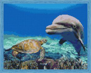 Алмазная мозаика «Морские друзья» 40x50 см