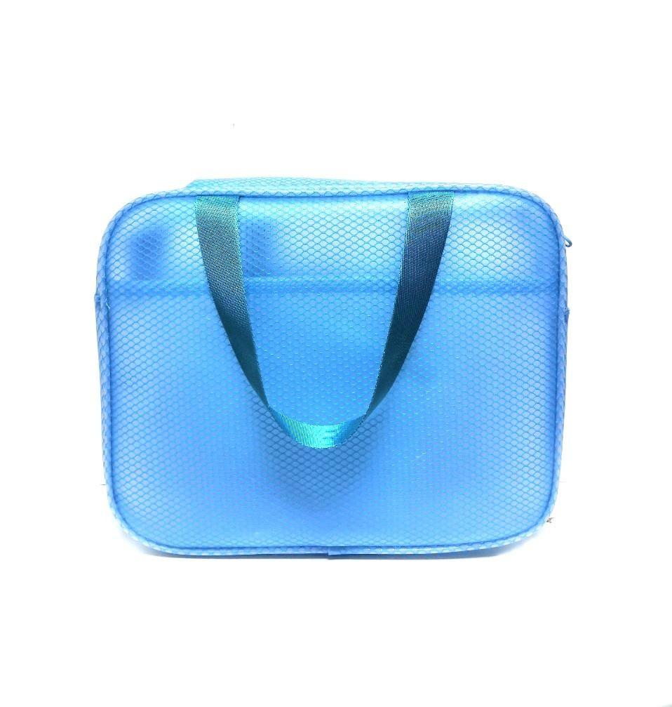 Водонепроницаемая пляжная сумка с двумя карманами Beach Bag. Цвет Голубой