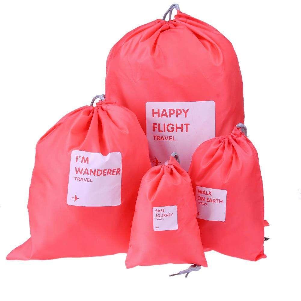 Водонепроницаемые мешочки для одежды Happy Flight Cplay, 4 шт. Цвет  Светло-розовый