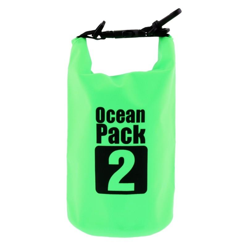 Водонепроницаемая сумка-мешок Ocean Pack 2 л. Цвет  Зеленый