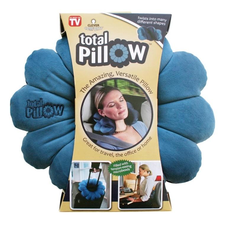 Подушка-трансформер для путешествий Total Pillow (Тотал Пиллоу) Цвет  Синий