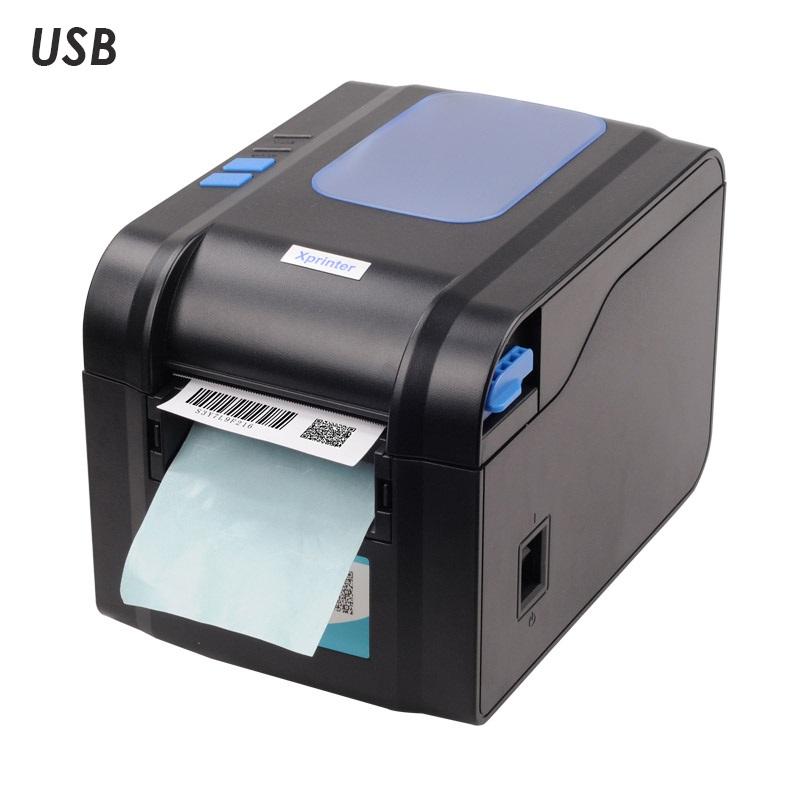 Термальный принтер этикеток Xprinter XP-370B с отделителем