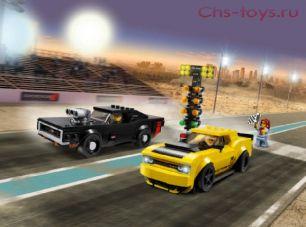 Конструктор Lari Speeds Champion Автомобили 2018 Dodge Challenger SRT Demon и 1970 Dodge Charger R/T 11256 (75893) 496 дет