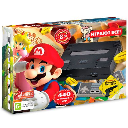 Dendy Mario 440-in-1 Black+пистолет